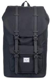 Herschel Little America Leather and Canvas Blend Backpack