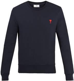 Ami de Coeur-embroidered wool sweatshirt