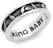 King Baby Studio Sterling Sliver Engraved Ring