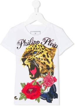 Philipp Plein Junior tiger print T-shirt