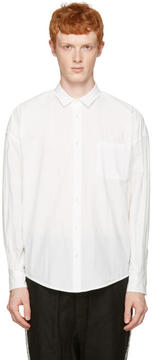 Robert Geller White Long Sleeve Shirt