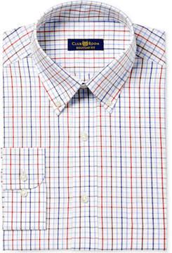 Club Room Men's Classic/Regular Fit Triple Tattersall Dress Shirt, Created for Macy's