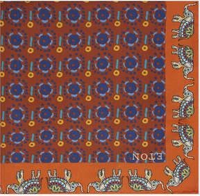 Eton Elephant border silk pocket square