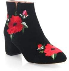 Kate Spade Langton Embroidered Leather Booties