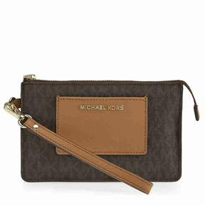Michael Kors Bedford Signature Clutch - Brown / Acorn - ONE COLOR - STYLE