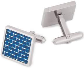 Murano Blue Stainless Steel Cuff Links