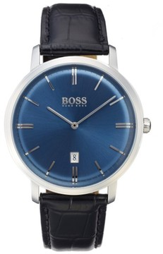 BOSS Tradition Leather Strap Watch, 40Mm