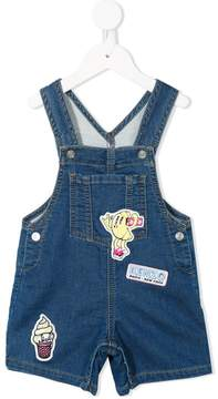 Kenzo patch embellished denim dungarees