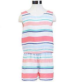Nautica Little Girls' Striped Romper (2T-7)