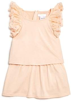 Chloé Girls' Popover Jersey Ruffle Dress - Baby