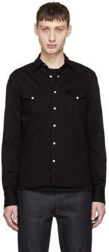 Nudie Jeans Black Jonis Western Shirt