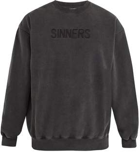 Balenciaga Oversized Sinners-embroidered cotton sweatshirt