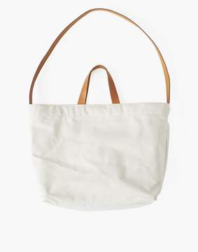 Madewell MAKR Canvas and Leather Sling Tote Bag