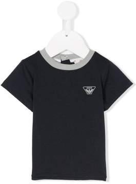 Emporio Armani Kids contrast-neckline T-shirt