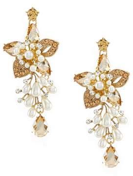 Natasha Accessories Elizabeth Statement Drop Earrings