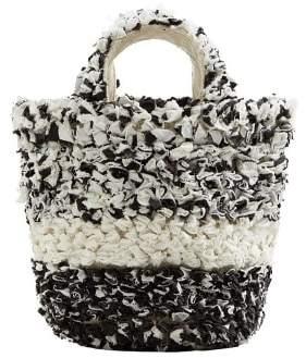 MANGO Texture bicolor bag