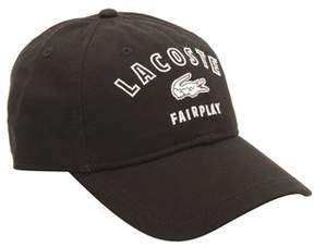 Lacoste Men's Fairplay Cotton Gabardine Cap.