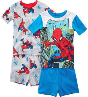 Spiderman Marvel's 4-Pc. Graphic-Print Cotton Pajama Set, Little & Big Boys