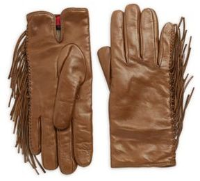 RED Valentino Frill Leather Gloves