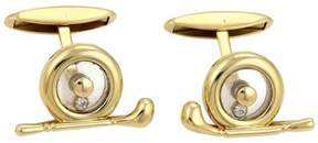 Chopard 18K Yellow Gold and 0.10ct Diamond Cufflinks