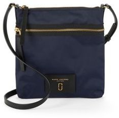 Marc Jacobs Faux Leather-Trimmed Crossbody - MIDNIGHT BLUE - STYLE
