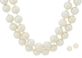Carolee First Lady Simulated Pearl Double Strand Necklace Set