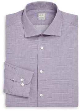 Ike Behar Regular-Fit Micro Plaid Dress Shirt