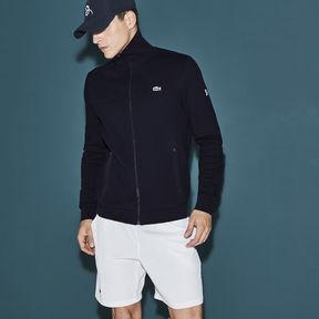 Lacoste Men's Sport Tennis Zippered Fleece Sweatshirt - Novak Djokovic Supporter Collection
