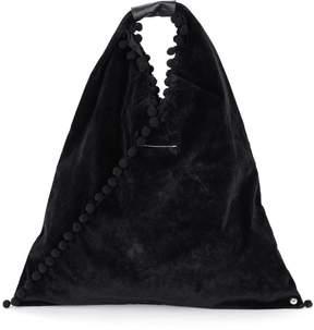 MM6 MAISON MARGIELA Black Velvet Pom Pom Shopper