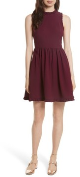 Women's Kate Spade New York Ruffle Trim Fit & Flare Dress