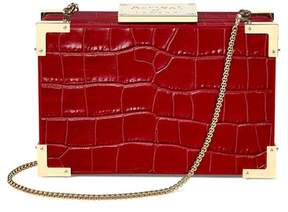 Aspinal of London | Scarlett Box Clutch In Deep Shine Red Croc | Deep shine red croc