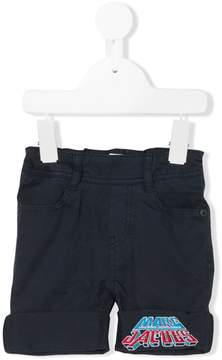 Little Marc Jacobs logo embroidered chino shorts