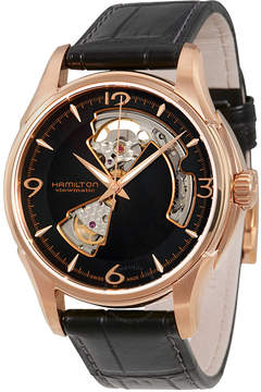 Hamilton Jazzmaster Open Heart Rose Gold Plated Case Automatic Men's Watch