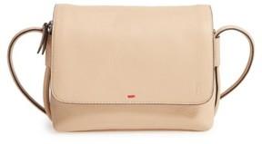 Ed Ellen Degeneres Small Monterey Leather Crossbody Bag - Beige