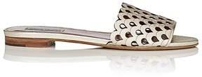 Tabitha Simmons Women's Breeze Laser-Cut Leather Slide Sandals