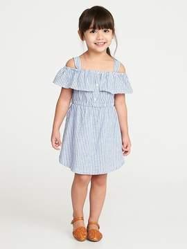 Old Navy Striped Linen-Blend Off-the-Shoulder Dress for Toddler Girls