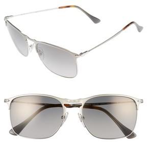Persol Men's Evolution 58Mm Polarized Aviator Sunglasses - Silver