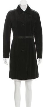 Andrew Marc Suede Knee-Length Coat w/ Tags