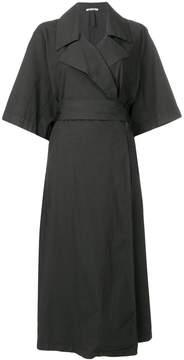 Barena wrap style trench dress