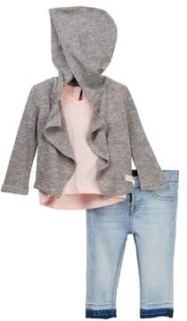 7 For All Mankind Hoodie, Tee, & Jeans Set (Baby Girls)