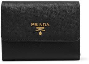 Prada Textured-leather Wallet - Black