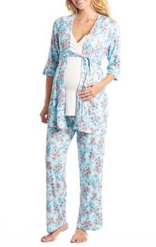 Everly Grey Women's Susan 5-Piece Maternity/nursing Pajama Set