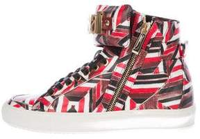 Just Cavalli Leather Logo Sneakers