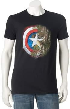 Marvel Men's Captain America Realtree Camo Shield Tee