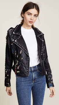 Blank Budding Romance Moto Jacket