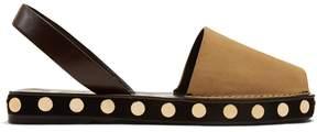 Loewe Stud-embellished suede sandals