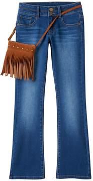 Mudd Girls 7-16 & Plus Size Bootcut Jeans & Purse Set