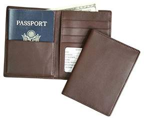 Royce Leather ROYCE RFID Blocking Bifold Passport Currency Travel Wallet Handcrafted in Genuine Coco Leather