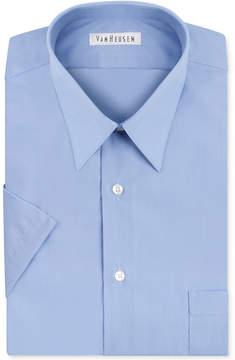 Van Heusen Poplin Solid Short-Sleeve Dress Shirt