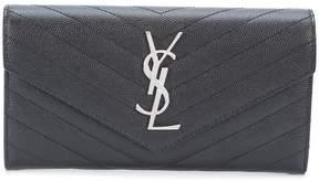 Saint Laurent large Monogram flap wallet - BLACK - STYLE
